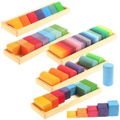 Set de construcción formas y colores Wooden Toys For Toddlers, Toddler Toys, Handmade Wooden Toys, Wooden Diy, Presents For Kids, Gifts For Kids, Montessori, Woodworking Toys, Waldorf Toys