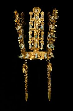 Silla Dynasty Gold Crown 5th-6th century A.D. Korea  Unlike other ancient golden crowns, the Silla crown is made with pure gold and has 58 jade ornaments, and boasts the most immaculate craftsmanship among its contemporaries…In fact, what makes this artifact so unusual is that it was still resting upon the head of the king when it was discovered.