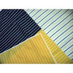 Vera Neumann Vintage 60s Striped Silk Scarf Mod Yellow Blue Geometric Nautical