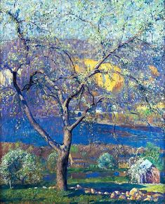 Impressionist Landscape, Impressionist Artists, Landscape Art, Landscape Paintings, National Gallery Of Art, Romanticism Artists, Pintura Exterior, American Impressionism, River Painting