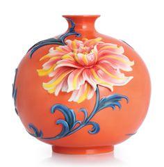 Franz Porcelain Exotic Peony Vase
