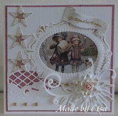 Voorbeeldkaart - Nog maar een kerstkaartje, - Categorie: Stansapparaten - Hobbyjournaal uw hobby website