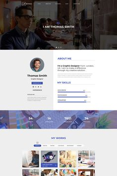 Andy - Portfolio Web Template PSD is one page web template PSD. Template Portfolio, Portfolio Design, Layout Template, Psd Templates, App Landing Page, Creative Web Design, Free Advertising, 3d Background, Personal Portfolio