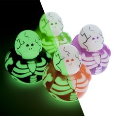 These Glow In The Dark Skeleton Rubber Ducks are a great alternative to candy for your little ghosts and goblins!