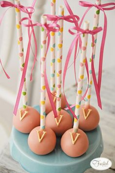 Project Nursery - Cake Pops for this Flamingo Sip and See Party