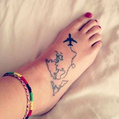 Flying Plane Tattoo