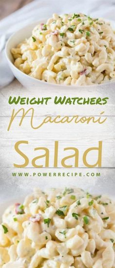 Macaroni Salad - All about Your Power Recipes - Healthy Eating - Kalorienarme Rezepte Salade Weight Watchers, Weight Watchers Pasta, Ww Recipes, Cooking Recipes, Healthy Recipes, Mayonnaise, Weight Watchers Sides, Classic Macaroni Salad, Plat Simple