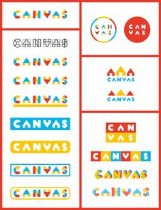 CANVAS (canvas) aims to create and express children& creativity and . Kindergarten Logo, Kids Branding, Logo Branding, Branding Design, Kids Planner, Typographie Logo, Logo Samples, Typo Logo, Education Logo