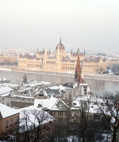 Winter in Budapest, Hungary