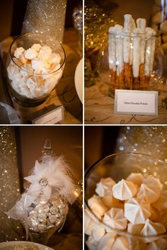 Lovely Silver & Gold Winter Baby Shower - On to Baby Hvide og blå sukkerkys