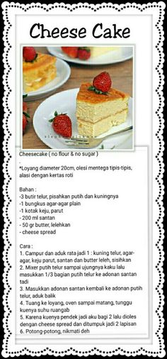 Indonesian Recipes, Indonesian Food, Food N, Food And Drink, Kitchen Recipes, Cooking Recipes, Cheesecake, Coffee Drinks, Waffles