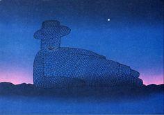 Folon, Le rêve de pierre Magritte, Chiaroscuro, Inspiring Art, Art Designs, Illustration, France, Cartoon, Contemporary, Painting