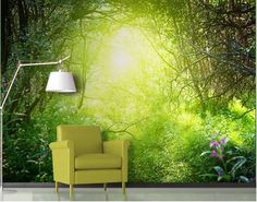 Photo Wall Mural - adhesive Dream Magic Forest