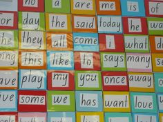Dale's colourful Camera Word Display!