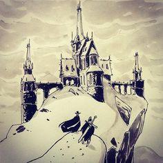regram @ullikummi Vampire hunters #sketch #sketchbook #vampire