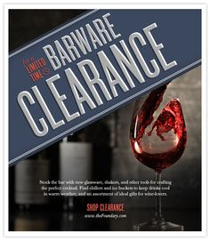 …for a limited time, shop the Barware Clearance.
