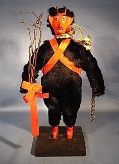 ANTIQUE GERMAN KRAMPUS FIGURE