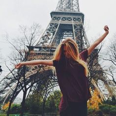 Image about happy in photo inspiration by L on We Heart It Paris Eiffel Tower, Tour Eiffel, Travel Around The World, Around The Worlds, Magic Secrets, People Poses, Paris France, Find Image, We Heart It
