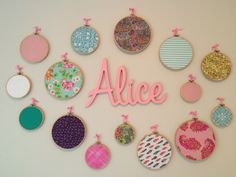 Alice's Wall Art Embroidery rings Incy Interiors