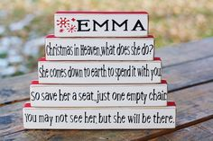 Green Christmas Board Set ~ Miscarriage, Stillbirth and Infant Loss Blocks and Board Sets~