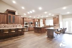 A wonderfully big and spacious kitchen! #barstools Find us @ www.seatinginnovations.com