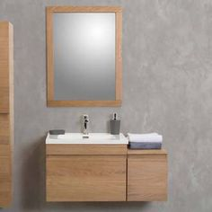 Meuble Simple Vasque En Ch Ne 60cm Module Compl Mentaire 30cm Miroir Master Bathroom Vanitysimple