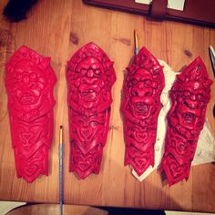 League of Legends Blood Moon Akali Arm and Shin Guards