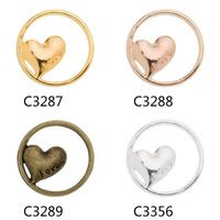 Korean cute style LOVE shaped charms 21.5mm alloy hollow circular pendant locket charm,romantic love for lover  DIY accessories