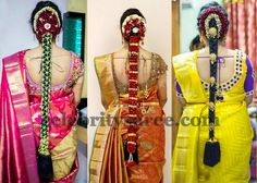 Brides in Maggam Aari Work Blouses
