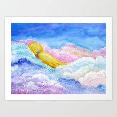 A Little Nap Self-Launch Children's Art Print Art Wall Kids, Art For Kids, Wall Art, Little Birdie, Picture Wall, Amazing Art, Fine Art Prints, Wedding Invitations, Product Launch
