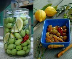 Μόνοι ετοιμάζουμε πράσινες ελιές | Κουζίνα | Bostanistas.gr : Ιστορίες για να τρεφόμαστε διαφορετικά Heart Crafts, Greek Recipes, Food Hacks, Preserves, Pickles, Cucumber, Food And Drink, Cheese, Cookies