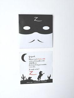 Découvrez les invitations personnalisables sur le thème du justicier masqué préféré des enfants.
