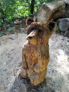 Little bear chainsaw carving