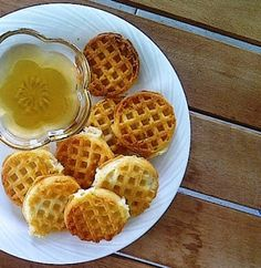 niña levadura: Waffles de manzanas (veganos)