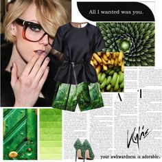 """""""Some green, again"""" by hil4ry on Polyvore"""