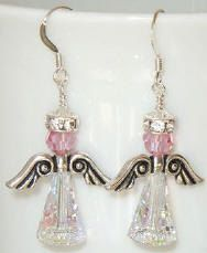 Blushing Angels Swarovski Crystal Earrings by BestBuyDesigns, $10.00