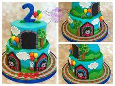 Pitas cake's Thomas The Train, Sweet Cakes, Birthday Cake, Desserts, Facebook, Food, Tailgate Desserts, Deserts, Birthday Cakes