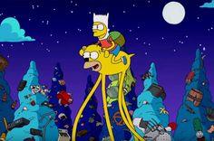 Os Simpsons: Abertura homenagem desenho animado Hora de Aventura