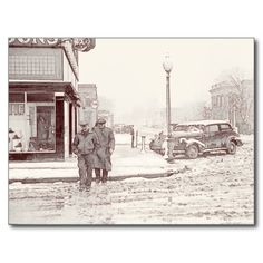 Great Depression Vintage Images Collection - Main Street, Herrin, Illinois, from a January 1939 photo by Arthur Rothstein. Postcard (http://haw-creek.com/shop/slushy-main-street1939/) (https://twitter.com/HawCreekShop/status/523259967332421632)