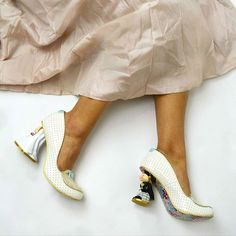 "Whisk yourself away and say ""I Do"" in these quirky bridal heels!"