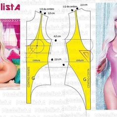 PDF sewing pattern one piece swimsuit for women Sewing Lingerie, Lingerie For Men, Pdf Sewing Patterns, Clothing Patterns, Fashion Sewing, Diy Fashion, Sewing Clothes, Diy Clothes, Costura Fashion