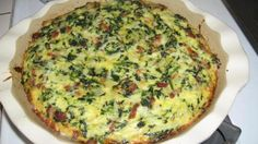Crustless Bacon, Spinach & Swiss Quiche - Low Carb Recipe