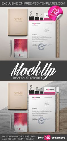Free Branding Identity Mock-up (51.3 MB) | free-psd-templates.com | #free #photoshop #mockup