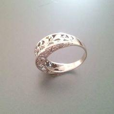 Sterling Silver Filigree Ring Sterling Silver Ring by Impulse18K