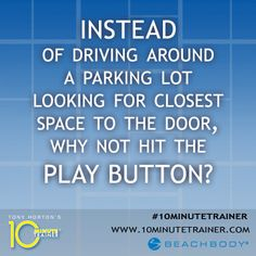 #10MinuteTrainer will help give you the energy so you can stop circling! #TonyHorton