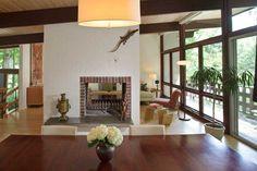 midcentury modern ceiling beams | Mid-Century Modern Retreat - Old-House Online