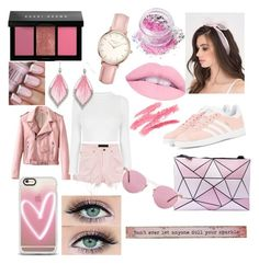 """""""pink"""" by mariahhh17 on Polyvore featuring Alexander Wang, adidas Originals, Topshop, Natural Life, In Your Dreams, Casetify, Oliver Peoples and Bobbi Brown Cosmetics"""