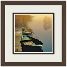 Shop for Steven Mitchell 'Misty Boats' Framed Artwork - Brown. Get free delivery On EVERYTHING* Overstock - Your Online Art Gallery Store! Get in rewards with Club O! Framed Art Prints, Framed Artwork, Wall Art, Buy Canvas, Canvas Art, Old Time Pottery, Silhouette S, Landscape Art, Online Art Gallery