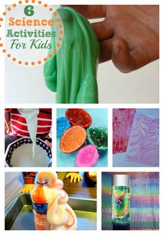 6 easy science projects you can do at home with kids.  #kids #activities #science #indoor