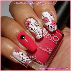 Nail Art Stamping Mania: Floral Manicure With Born Pretty Store Water Decal